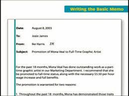 Business Memorandum Letter The Key Forms Of Business Writing Basic Memo Youtube