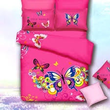 hot pink bedding set colorful erfly queen size duvet cover bed linens pure cotton fabric bedroom hot pink bedding set