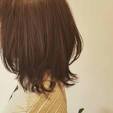 Bonheur 伸ばし途中のミディアムヘア 少し段を入れて変化をつけさせて