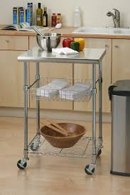 Seville Classics Stainless Steel Professional Kitchen Cart Cutting