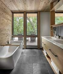 Best 22 Modern Bathroom Slate Floors Freestanding Tubs Design Photos Dwell