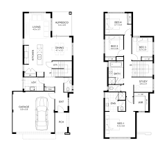 Home Design  4 Bedroom Luxury Bungalow House Floor Plans 4 Bedroom Townhouse Floor Plans