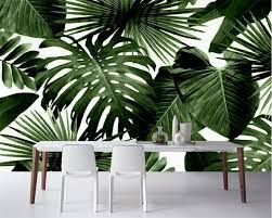 Tropical Rain Forest Palm Banana Leaf ...