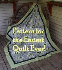 Pattern for Making the Easiest Quilt Ever | HubPages & This beautiful Amy Butler fabric makes a great whole cloth quilt. The  quilter did add Adamdwight.com