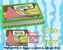 Whats Funnier Than 24 Spongebob Squarepants Cake Topper Edible