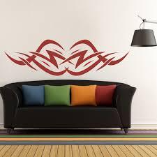 tribal lightning wall sticker headboard design wall decal kids bedroom decor