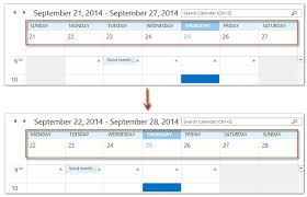 monday sunday calendar how to show calendar from monday to sunday in outlook