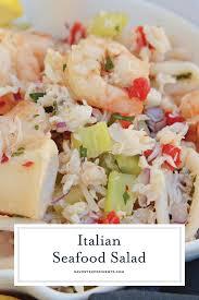 Seafood salad, Shrimp and crab salad ...