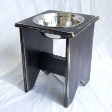 single raised dog bowl elevated stand wooden 1 mm tall bowls uk