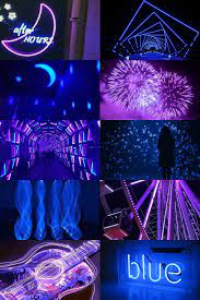 Wallpaper Iphone Neon Blue Aesthetic ...
