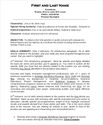 Pdf Resume Builder Federal Resume Template 8 Free Word Excel Pdf Format