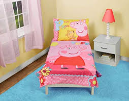 Amazon.com : Peppa Pig Adoreable Toddler Bed Set, Pink : Baby