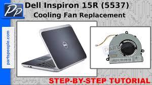 Dell <b>Inspiron 15R</b> (<b>5537</b>) CPU Cooling Fan Video Tutorial Teardown ...