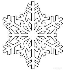 Snowflakes Printable Coloring Pages Free Snowflake Template Word