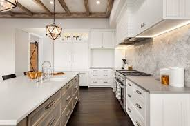 light colored quartz countertops are gorgeous with dark cabinets