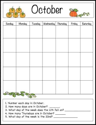 October Weekly Calendar Kids Weekly Calendar Template Learning Templates For Flyers Word