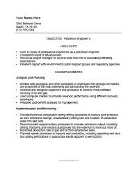 Petroleum Engineer Sample Resume 4 Free Printable Template