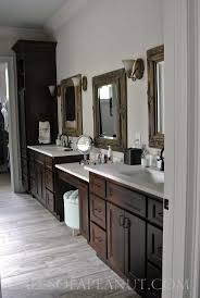 Best Dark Cabinets Bathroom Ideas With Enchanting White Countertops