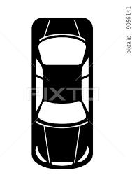上から見た車のイラスト素材 9056141 Pixta