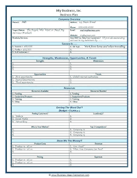Basic Business Plan Outline Free One Page Business Plan Template Bookmylook Co