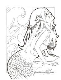 Small Picture Coloring Pages Draw Mermaids Es Coloring Pages
