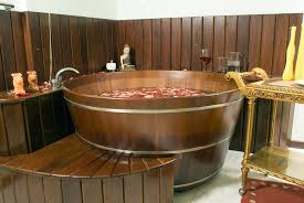 wine bath tub in a spa