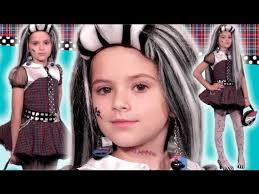 you kittiesmama bratayley makeup tutorial for frankie stein monster high doll costume style guide for