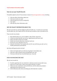 Hscic Aqp Template Text For Patient Information Leaflets