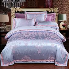 steel blue and rose gold ethnic pattern indian bohemian style luxury western royal style full queen size bedding sets