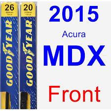 2015 Acura Mdx Wiper Blade Set Kit Front 2 Blades Premium