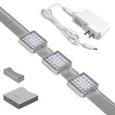 jesco orionis 3 light led track kit silver 3 ft plug in track lighting kits com