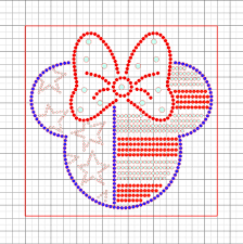 american template minnie mouse american flag free rhinestone downloadable template