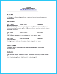 Auto Mechanic Resume Templates Awesome Writing Your Great Automotive Technician Resume Resume