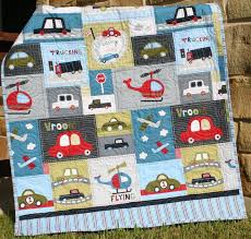 840 best Children's Quilts. ❤ images on Pinterest | Crafts, Sew ... & Vroom Baby Boy Quilt Toddler Vehicles Trucks Cars Airplanes Helicopters.  $149.00, via Etsy. Adamdwight.com