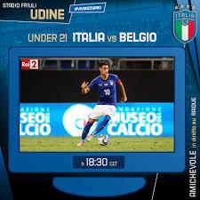 Nazionale Italiana di Calcio - #Azzurrini 💙 Amichevole #Under21 🇮🇹 # Italia vs 🇧🇪 #Belgio 🏟 Stadio #Friuli - #Udine ⏱ Oggi - h. 18.30 🖥  Diretta Tv su #RaiDUE ℹ️ www.figc.it #Nazionale #Italia #ForzaAzzurrini  #U21ItaliaBelgio #VivoAzzurro
