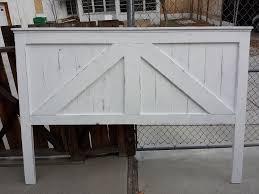 barn door headboard paint