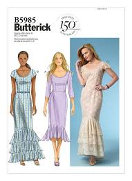 Mccalls Patterns Delectable B48 Misses' HemlineFlounce Dresses Sewing Pattern Butterick
