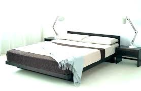 Low Wood Bed Frames Low Full Size Bed Wooden Bed Frame Black Metal ...
