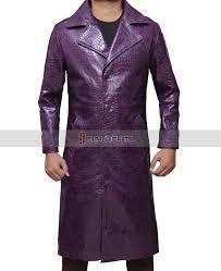 jared leto squad crocodile purple joker coat