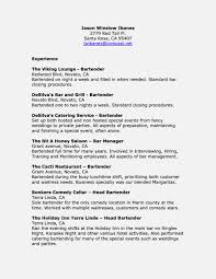 Awesome Description Of Bartender Duties For Resume Gallery Photo