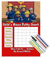 Kids Children Boys Potty Training Reward Chart Stickers