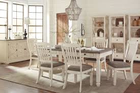 gray dining room furniture. Bolanburg White And Gray Rectangular Dining Room Set Furniture G