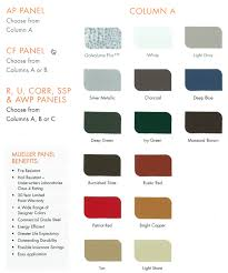 Mueller Metal Buildings Color Chart Color Options Ready Fab Construction Llc