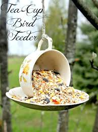 garden bird feeders to make this beautiful feeder all you need is some glass and ceramic garden bird feeders