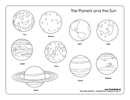 Free Solar System Coloring Pages Printable Solar System Coloring