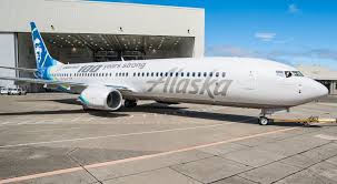 alaska airlines narrow body boeing 737 900er special livery painting on 100th celebration