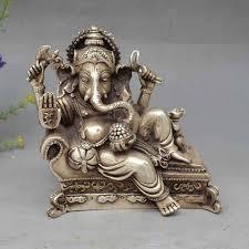 12cm <b>Tibetan Buddhism</b> Brass <b>Ganesha</b> Ganapati <b>Ganesh</b> Lord ...