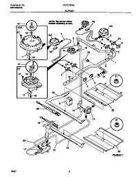 Stove diagram with gas valve
