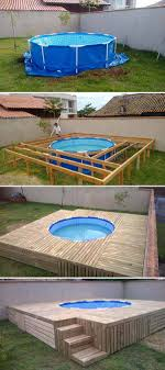 above ground pool with deck attached to house. #8 Build A Deck Around Your Above-ground Swimming Pool Above Ground With Attached To House