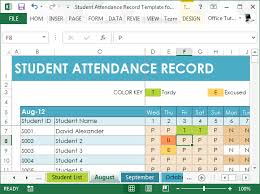student database template student attendance record template for excel